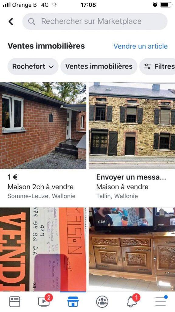 Facebook prit d'assaut le secteur immobilier - Marketplace
