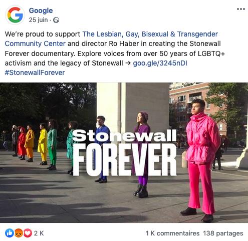 Petit guide du hashtag : exemple de google