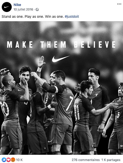 Petit guide du hashtag : exemple Nike